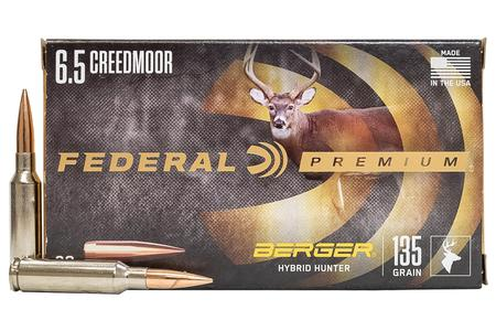 Federal 6.5 Creedmoor 135 gr Berger Hybrid Hunter 20/Box