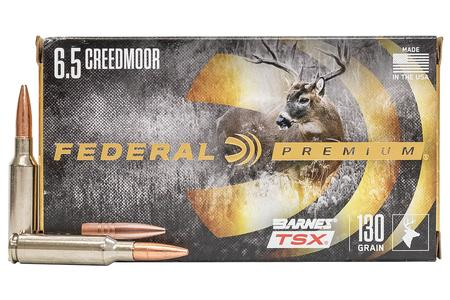 FEDERAL AMMUNITION 6.5 Creedmoor 130 gr Barnes TSX Hollow Point 20/Box