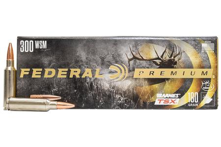 Federal 300 WSM 180 gr Barnes TSX Hollow Point 20/Box