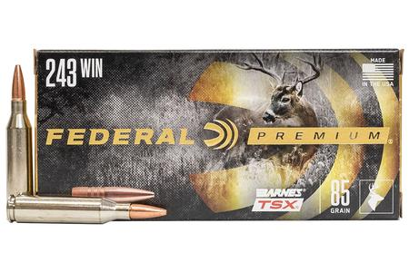 FEDERAL AMMUNITION 243 Winchester 85 gr Barnes TSX Hollow Point 20/Box