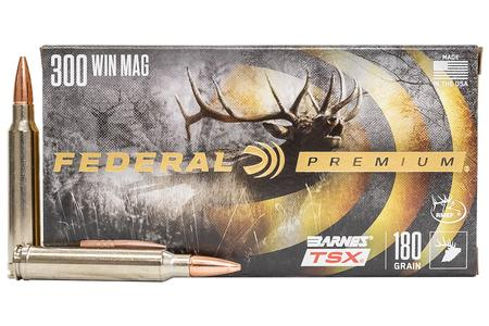 Federal 300 WIN MAG 180 gr Barnes TSX Hollow Point 20/Box