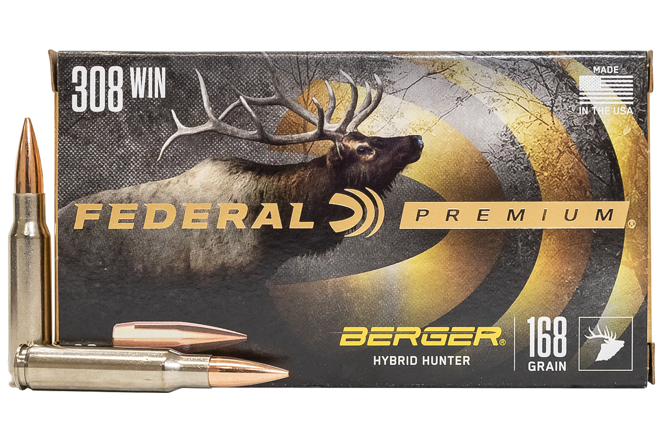308 WIN 168 gr Berger Hybrid Hunter 20/Box