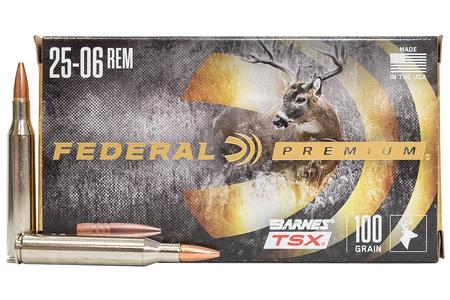 FEDERAL AMMUNITION 25-06 REM 115 gr Barnes TSX Hollow Point 20/Box