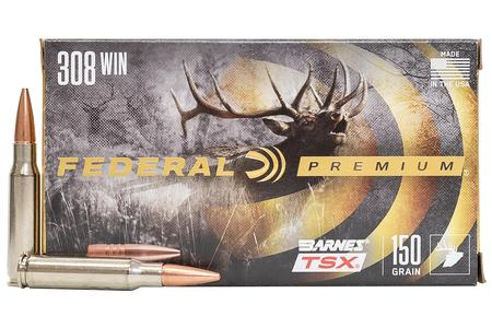 Federal 308 WIN 150 gr Barnes TSX Hollow Point 20/Box