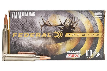 FEDERAL AMMUNITION 7mm REM MAG 160 gr Barnes TSX Hollow Point 20/Box