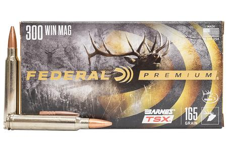 FEDERAL AMMUNITION 300 WIN MAG 165 gr Barnes TSX Hollow Point 20/Box