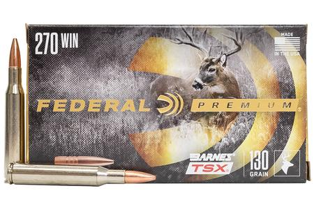 Federal 270 WIN 130 gr Barnes TSX Hollow Point 20/Box