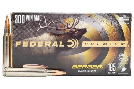 FEDERAL AMMUNITION 300 WIN MAG 185 gr Berger Hybrid Hunter 20/Box