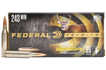 Federal 243 WIN 95 gr Berger Hybrid Hunter 20/Box