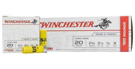 WINCHESTER AMMO 20 Gauge 2-3/4 in 7/8 oz 8-Shot Super Target 100/Box