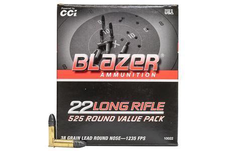 CCI AMMUNITION 22LR 38 gr Lead Round Nose 525 Round Bulk Pack