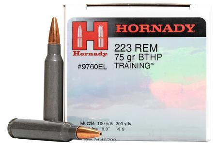 Hornady 223 Rem 75 gr BTHP Training Police Trade-In Ammo 50/Box