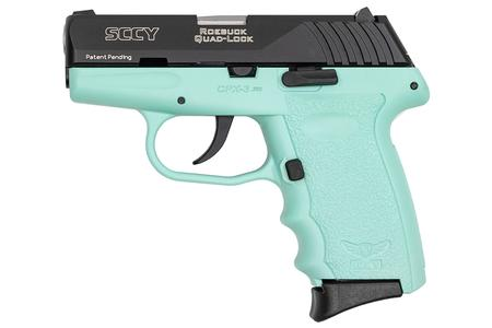 SCCY CPX-3 380 ACP Pistol with Aqua Frame and Black Slide