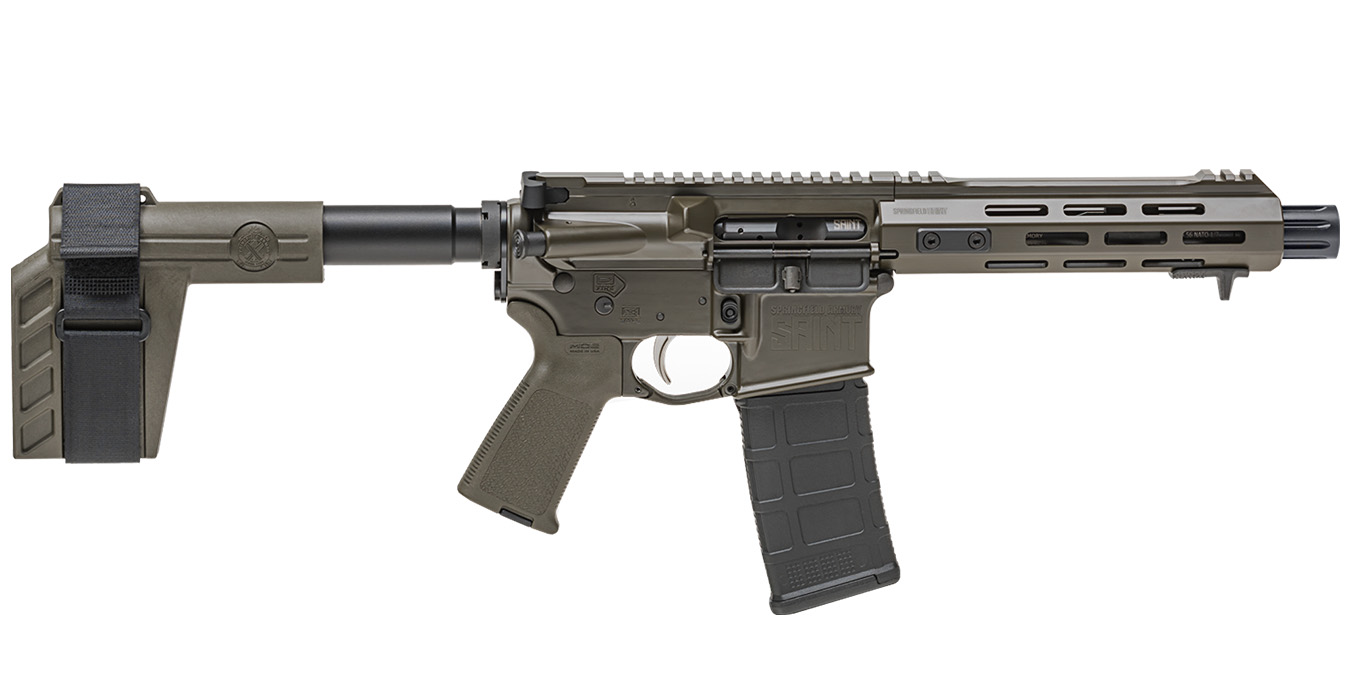 SAINT 5.56MM 7.5` PISTOL OD GREEN