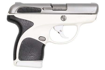 Taurus Spectrum  380 Auto White/Stainless Pistol with Black Grips