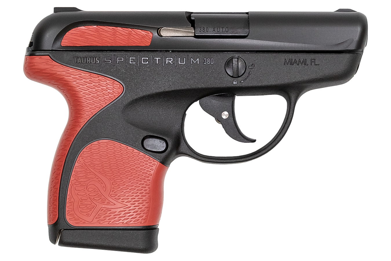 No. 12 Best Selling: TAURUS SPECTRUM .380 AUTO BLACK/RED