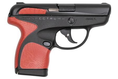 TAURUS SPECTRUM .380 AUTO BLACK/RED