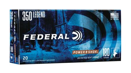 FEDERAL AMMUNITION 350 Legend 180 gr Soft Point Power-Shok 20/Box
