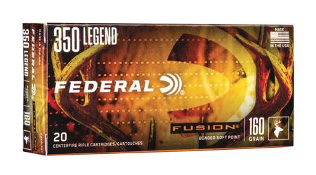 FEDERAL AMMUNITION 350 Legend 160 gr Bonded Soft Point Fusion 20/Box