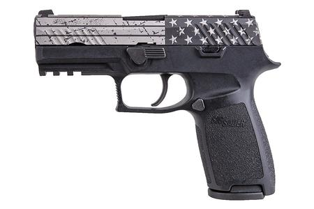 P320,9MM,3.9IN,NITRON,BLK,STRIKER,SIGLITE,MOD. POLY GRIP 3-MAGS THIN BLUE LINE