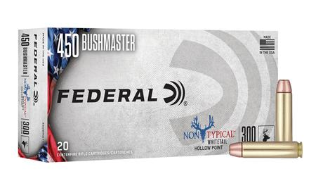 FEDERAL AMMUNITION 450 Bushmaster 300 gr Soft Point Non-Typical 20/Box