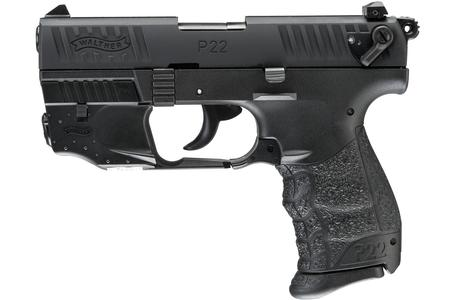 WALTHER P22Q 22LR RIMFIRE PISTOL WITH LASER