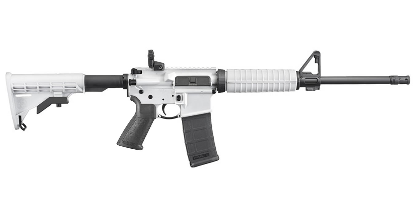 No. 14 Best Selling: RUGER AR-556 5.56MM NATO WHITE CERAKOTE