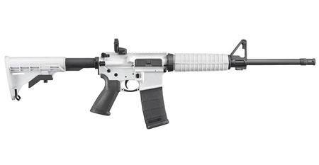 Ruger AR-556 Semi-Automatic 5 56 NATO Rifle with White Cerakote Finish