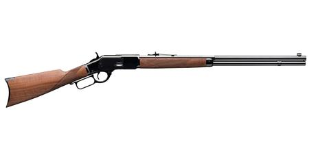 "Winchester 1873 Deluxe Sporter .45 LC Lever Action Rifle 24"" Half Octagon Barrel 13 Rounds Walnut Stock Blued"