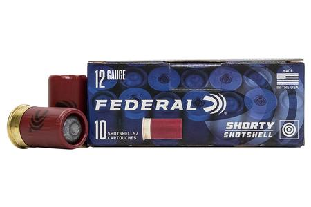 Federal 12 Gauge 1-3/4 in Rifled Slug Shorty Shotshells 10/Box