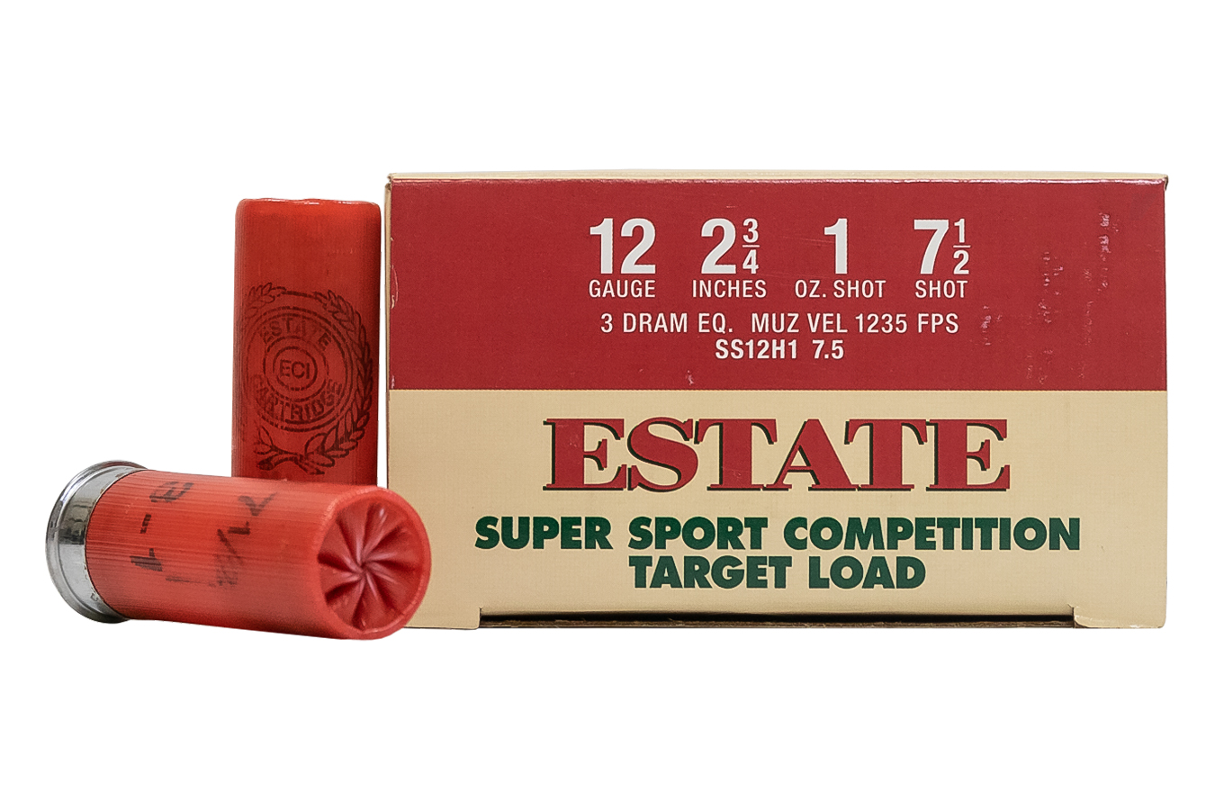 ESTATE CARTRIDGE 12GA 2-3/4` 1OZ SUPER SPORT TARGET TRADE