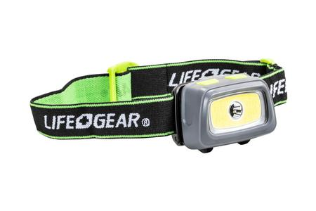 Dorcy Life Gear Multi-Mode COB 330 Lumen 3AAA HeadLamp with Safety Whistle