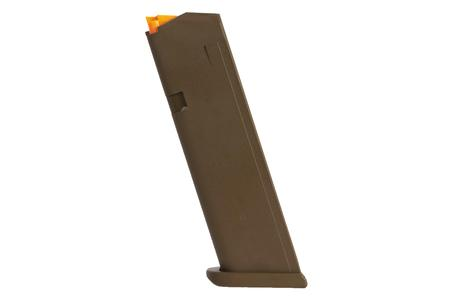 GLOCK 17 9mm FDE 17-Round Magazine with Orange Follower