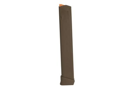 GLOCK 9mm 33-Round FDE Magazine with Orange Follower