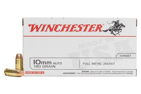 WINCHESTER AMMO 10mm Auto 180 gr FMJ USA 50/Box