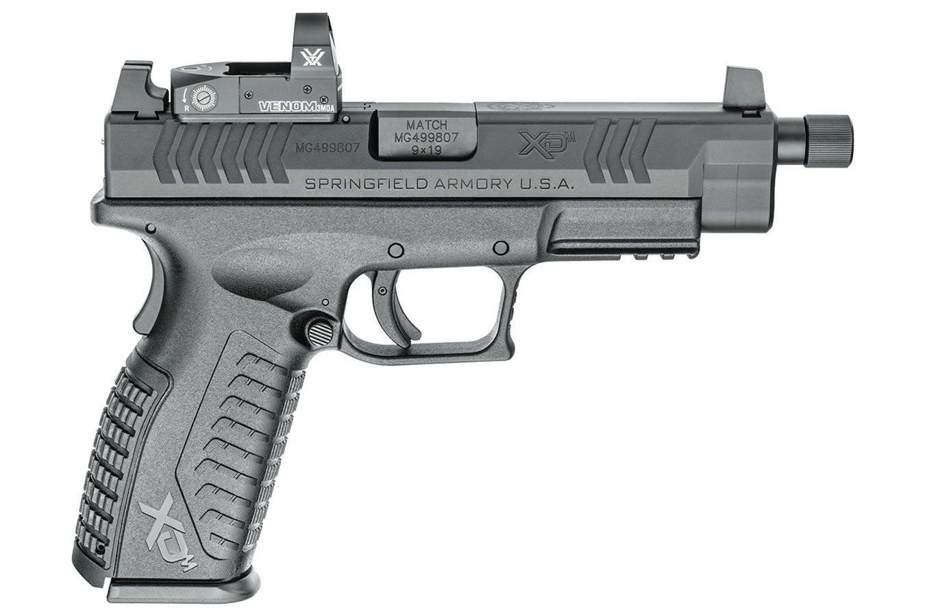 xdm guns threaded barrel sportsman osp springfield vortex 9mm superstore venom pistol dot