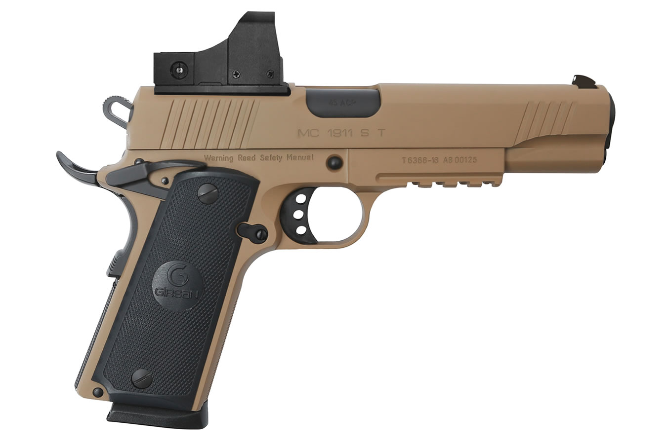MC1911S GOVERNMENT 45ACP FDE WITH RED DOT