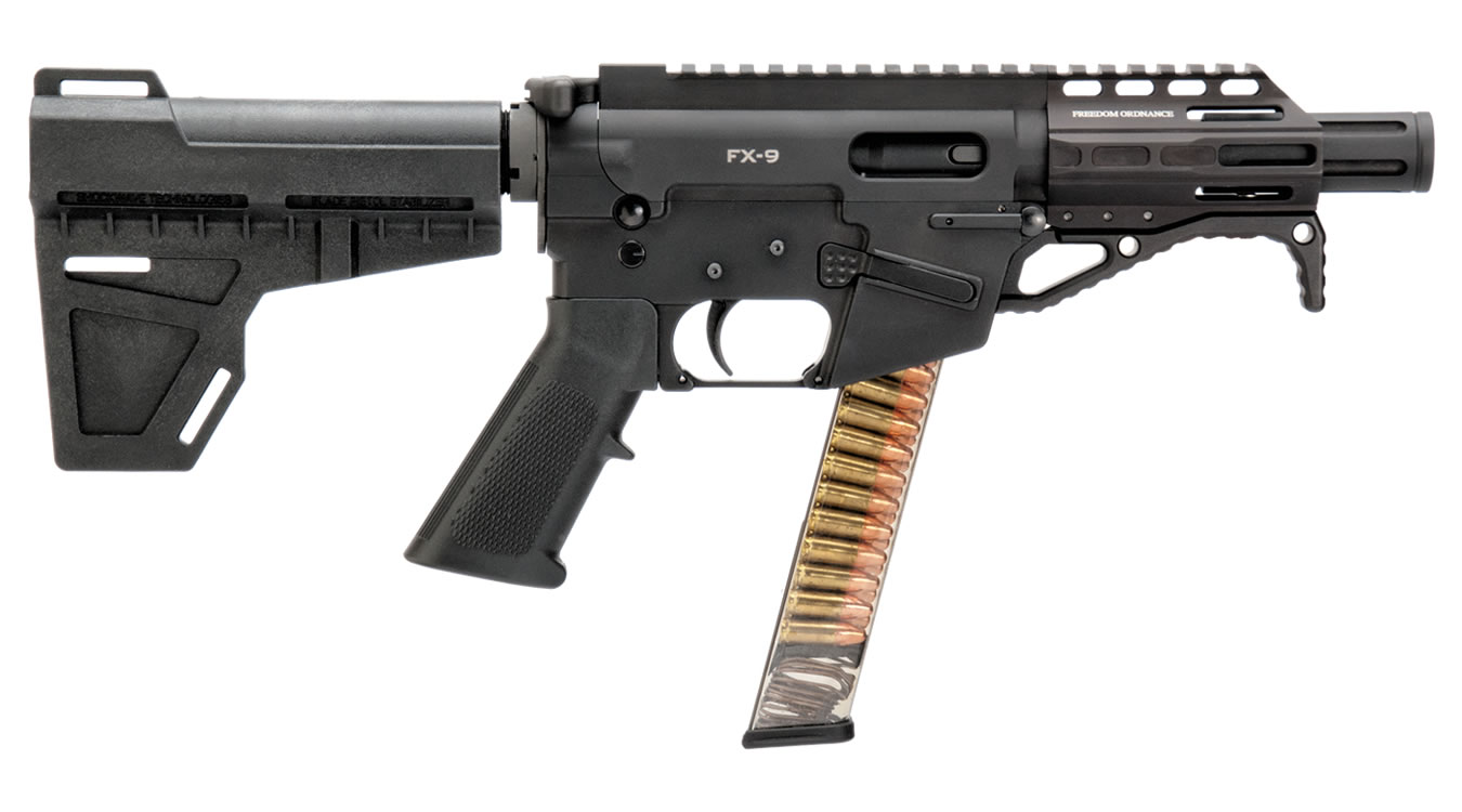 No. 35 Best Selling: FREEDOM ORDNANCE FX-9 9MM AR PISTOL WITH SHOCKWAVE BLADE STOCK