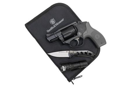 Smith & Wesson M&P Bodyguard 38 Special EDC Kit with Crimson Trace Laser,  Flashlight and Knife