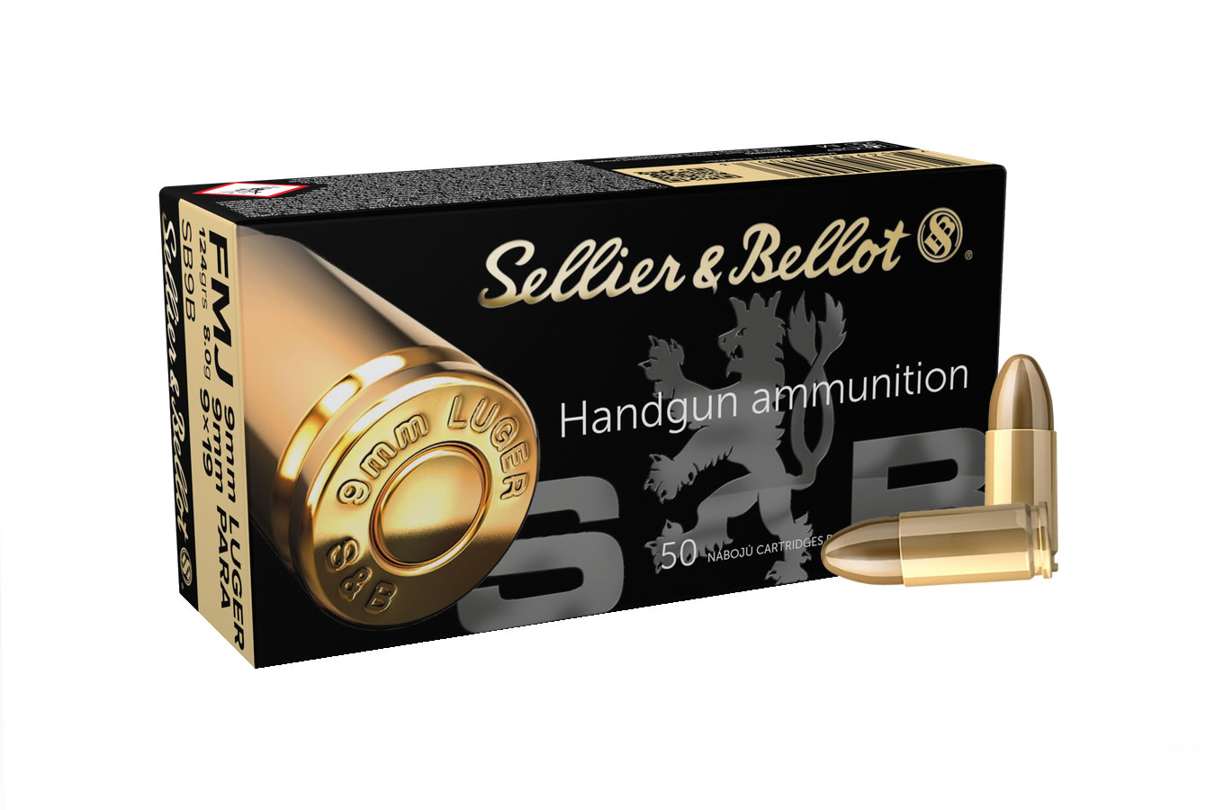 SELLIER AND BELLOT 9MM LUGER/9MM PARA 124GR  FMJ 50/BOX
