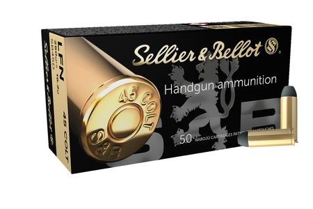 SELLIER AND BELLOT 45 Long Colt 250 gr Lead Flat Nose 50/Box