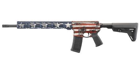 Ruger AR-556 MPR 5 56mm with American Flag Cerakote Finish