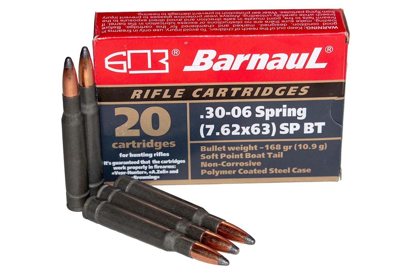 30-06 SPRG 168 GR SPBT STEEL POLYCOATED CASE