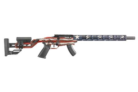 Ruger Precision Rimfire 22LR Bolt Action American Flag Cerakote Finish
