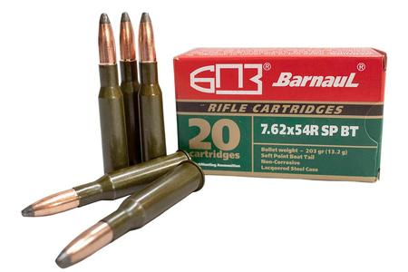BARNAUL 7.62x54R 203 gr Soft Point Steel Lacquered Case 20/Box