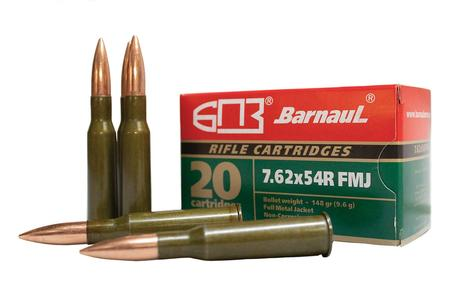 BARNAUL 7.62x54R 148 gr FMJ Steel Lacquered Case 20/Box