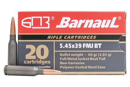 BARNAUL 5.45x39 60 GR Full Metal Jacket Steel Polycoated Case 20/Box