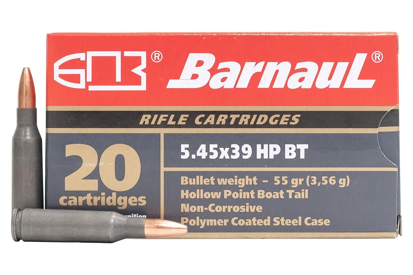 5.45X39 55GR HP STEEL POLYCOATED CASE 20/BOX