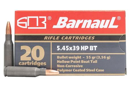 BARNAUL 5.45x39 55 GR Hollow Point Steel Polycoated Case 20/Box