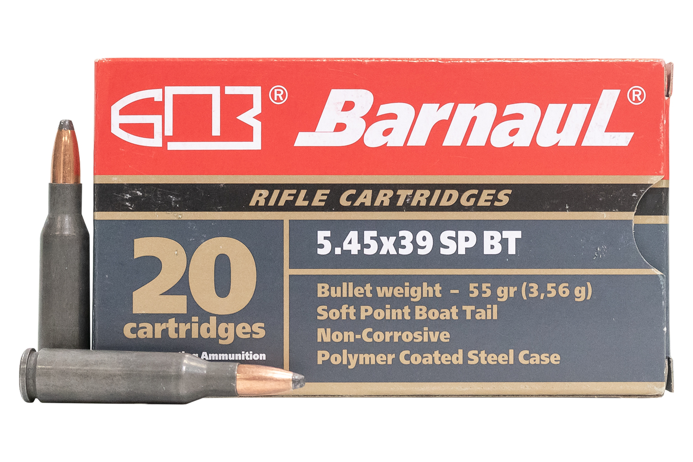 5.45X39 55 GR SPBT STEEL POLYCOATED CASE